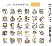 digital marketing   thin line... | Shutterstock .eps vector #1327071671