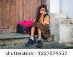 7 or 8 years child in school...   Shutterstock . vector #1327074557