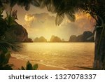 view of nice tropical shore... | Shutterstock . vector #1327078337