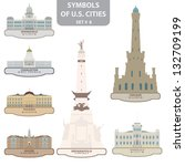 symbols of us cities. set 8.... | Shutterstock .eps vector #132709199