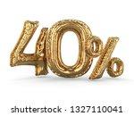golden forty percent made of... | Shutterstock . vector #1327110041