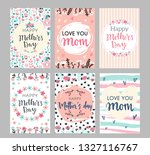 set of mothers day greeting... | Shutterstock .eps vector #1327116767