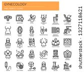 gynecology   thin line and... | Shutterstock .eps vector #1327118621