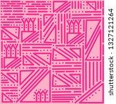 geometric pink vector pattern... | Shutterstock .eps vector #1327121264