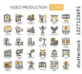 video production   thin line... | Shutterstock .eps vector #1327123691