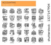 accounting   thin line and... | Shutterstock .eps vector #1327147904
