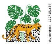illustration with snarling... | Shutterstock .eps vector #1327151654