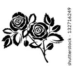 roses   Shutterstock .eps vector #132716249