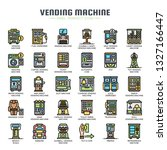 vending machine   thin line and ... | Shutterstock .eps vector #1327166447