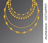 gold beads on a white... | Shutterstock .eps vector #1327169957