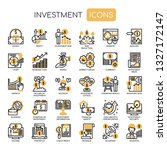 investment elements   thin line ... | Shutterstock .eps vector #1327172147
