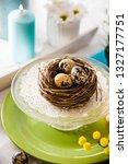 easter table setting. fresh... | Shutterstock . vector #1327177751
