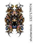 idol symbol deity vector | Shutterstock .eps vector #1327179974