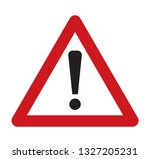 danger triangle sing icon red... | Shutterstock .eps vector #1327205231