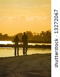 Young Couple In Silhouette...