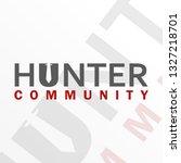 hunter logo design  hunter...   Shutterstock .eps vector #1327218701