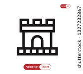 castle icon vector | Shutterstock .eps vector #1327232867