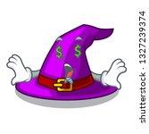 money eye witch hats in shape... | Shutterstock .eps vector #1327239374