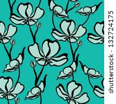 floral seamless pattern with... | Shutterstock .eps vector #132724175