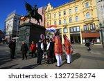 zagreb  croatia  10 february... | Shutterstock . vector #1327258274