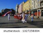 zagreb  croatia  10 february... | Shutterstock . vector #1327258304