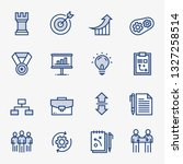 company structure icon set   Shutterstock .eps vector #1327258514