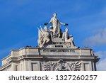 augusta arch in lisbon.... | Shutterstock . vector #1327260257