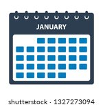 january calendar icon. flat...