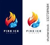 fire ice logo | Shutterstock .eps vector #1327289684