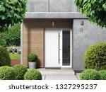 modern home facade with... | Shutterstock . vector #1327295237