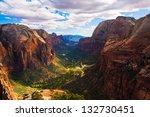 beautiful landscape in zion... | Shutterstock . vector #132730451
