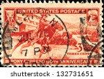 usa   circa 1940  a stamp... | Shutterstock . vector #132731651