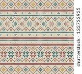seamless fairisle pattern | Shutterstock .eps vector #132733925