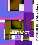background abstract squares ... | Shutterstock .eps vector #1327342181