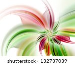 Colorful Light Fractal Flower ...