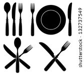 Vintage Cutlery Silhouettes...