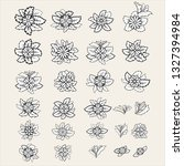 set of vector flowers and... | Shutterstock .eps vector #1327394984