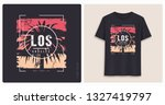 los angeles. graphic tee shirt... | Shutterstock .eps vector #1327419797