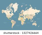 world map with colored countries | Shutterstock .eps vector #1327426664