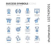 simple set of success related... | Shutterstock .eps vector #1327439201