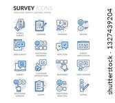 simple set of survey related... | Shutterstock .eps vector #1327439204