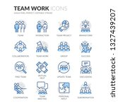 simple set of team work related ... | Shutterstock .eps vector #1327439207