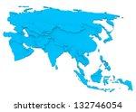 bump map of asia | Shutterstock . vector #132746054