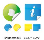 color stickers icons vector... | Shutterstock .eps vector #132746699