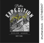 expedition slogan on b w... | Shutterstock .eps vector #1327485047