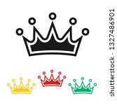 crown icon in different colors...