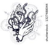 vector illustration  snakes on... | Shutterstock .eps vector #1327488044