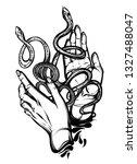 vector illustration  snakes on... | Shutterstock .eps vector #1327488047