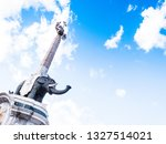 the famous elephant with an...   Shutterstock . vector #1327514021