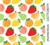 vector fruit pattern. summer... | Shutterstock .eps vector #1327518074